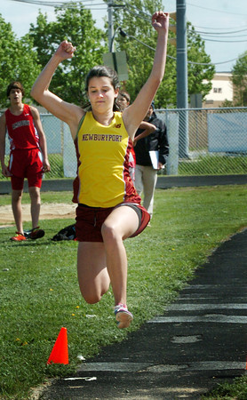 Newburyport: Newburyport's Hannah Sheehy competes in the long jump. Bryan Eaton/Staff Photo