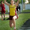 Newburyport: Newburyport's Hannah Sheehy competes in the long jump. Bryan Eaton/Staff Photo