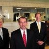 Amesbury: When Charlie Cullen, left, steps down as president and CEO of the Provident Bank he will be replaced by Dave Mansfield, center, as CEO and Chuck Withee as president. Bryan Eaton/Staff Photo