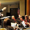 "Newburyport: Nock Middle School music director Thom Stolar conducts the sixth grade band in ""Royal Fireworks"" at the Newburyport school's Spring Band Concert on Wednesday night. The performance was the last on the school's stage for him as he is retiring after 20 years there. Bryan Eaton/Staff Photo"