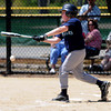 JIM VAIKNORAS/Staff photo  Luke O'Leary of the Mariners gets a hit against the Cardinals at Pioneer Park Sunday in Newburyport.