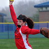 JIM VAIKNORAS/Staff photo Amesbury's Rachael Cyr pitches during the Indian's game at Triton in Byfield Friday.