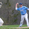 JIM VAIKNORAS/Staff photo Triton's Adam Chatterton throws out an Amesbury runner during their game at Triton in Byfield Saturday.