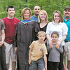 Sons Matthew Canning, Ryan Canning,graduate, Pam Canning, son in law Chuck Corneau, daughter Sarah Corneau, daughter Alexandra Canning, husband Sean Canning, and grandchildren Benjamin and Christina Corneau