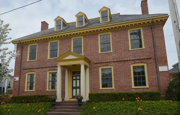 JIM VAIKNORAS/Staff photo Examble of preservation , the French School building on Federal Street in Newburyport.