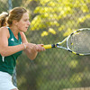 BRYAN EATON/ Staff Photo. Pentucket's Coli Downey in first singles.