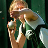 BRYAN EATON/ Staff Photo. Pentucket's McKenna Kilian fires the shot put.