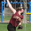 BRYAN EATON/ Staff Photo. Clipper's Victoria Allman winds up against Ipswich at Cashman Park.
