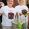 BRYAN EATON/ Staff Photo. Diane Gronbeck, left, and Debbie Aldrich kick off Newburyport's Chocolate Tour.