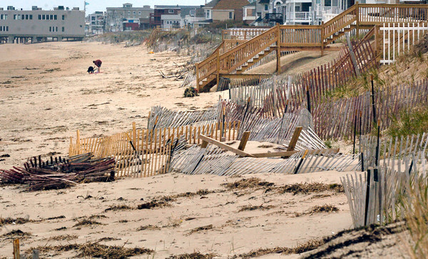 BRYAN EATON/ Staff Photo. Salisbury officials are hoping to get replenishment sand for this area of the beach between public access six and seven.