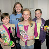 BRYAN EATON/ Staff Photo. Merrimac Girl Scouts of Troop 6783, from left, Tabi Coolen, Jillian Marden, Alexandria Janelli, Emily Miller, Molly  Deziel and Grace Tierney, all 12.
