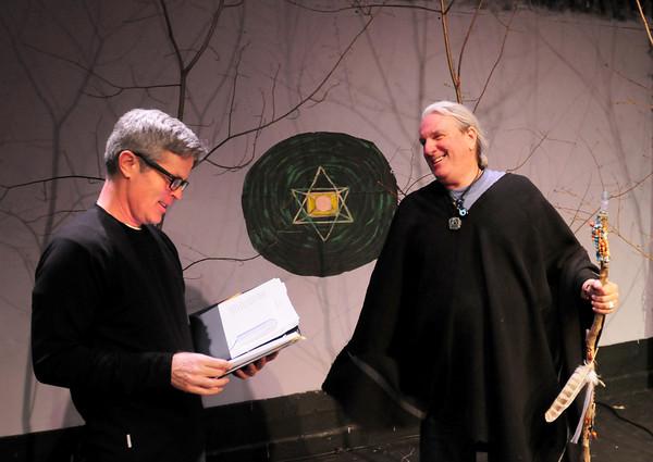 BRYAN EATON/ Staff Photo. Director Charles Van Eman, left, with Marc Clopton.