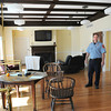 BRYAN EATON/ Staff Photo. Amesbury Fire Department Lt. Tim Haynes in the stations renovated day room.