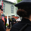 BRYAN EATON/ Staff Photo. Newburyport police held a memorial service in honor of today's Peace Officers Memorial Day, a day to honor fallen police officers and those currently serving, yesterday at Brown Square.