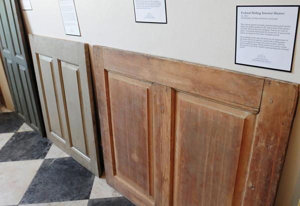 BRYAN EATON/ Staff Photo. Federal period sliding interior shutters.