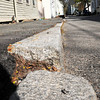 BRYAN EATON/ Staff Photo. Sidewalks on both sides of Temple Street from Fair to Federal Streets will be improved.