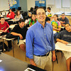 BRYAN EATON/ Staff Photo. Amesbury High School chemistry teacher Mark Casto was named Rotary Educator of the Year.