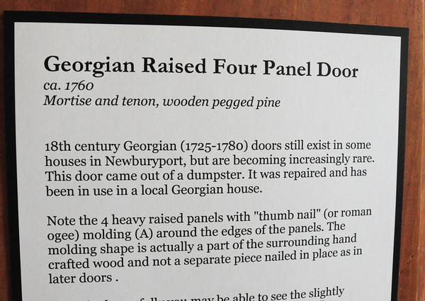 BRYAN EATON/ Staff Photo.  Georgian raised four panel door information.