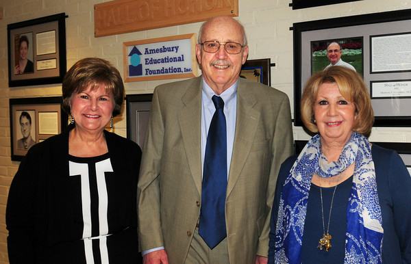 BRYAN EATON/ Staff Photo. Amesbury Education Foundation Inc. Hall of Honor inductees from left, Maria Ferrandini, Peter Randall and Carol Bartlett.