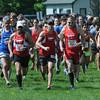 JIM VAIKNORAS/Staff photo <br /> Runners take off at the start of  Trav's Trail Run at Maudslay State Park in Newburyport.