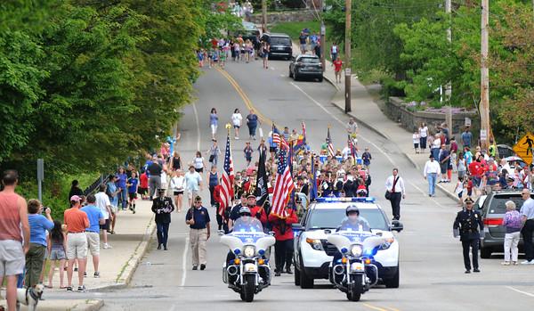 JIM VAIKNORAS/Staff photo  Amesbury Memorial Day Parade makes it way up Main Street Monday morning.