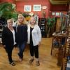 JIM VAIKNORAS/Staff photo Nancy Plante, Alice Jones, and Caroline Ramm at the Riverwalk Bead and Gallery in Amesbury.