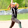 JIM VAIKNORAS/Staff photo Pentucket's pitcher .. against North Reading during their game at the Pines in Groveland.