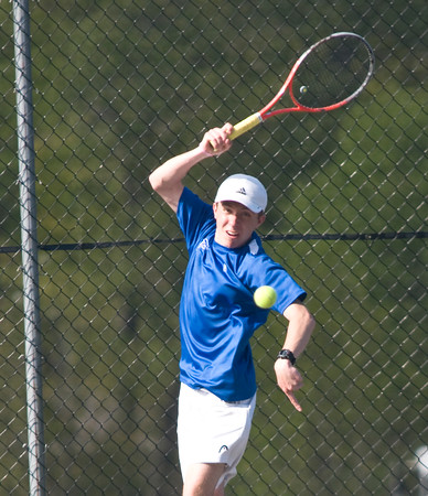 JIM VAIKNORAS/Staff photo Danvers' Jimmy McCarriston during his match against Amesbury's Grant Bellino