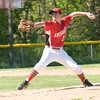 JIM VAIKNORAS/Staff photo Amesbury's Chris Cioffi pitches during their game against Ipswich at Amesbury Thursday.