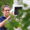 JIM VAIKNORAS/Staff photo Alli Hayden of the Winnacunnet High School band plays taps at the Memorial Day service in Seabrook Sunday morning.