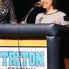 """BRYAN EATON/Staff Photo. Triton junior Sarah Maggiacomo was honored by C-Span for a film """"The Price of Your Future--Student Debt."""""""