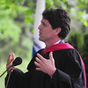 JIM VAIKNORAS/Staff photo Mark Kennedy Shriver speaks at the Governor's Academy Commemcement in Byfield Sunday morning.