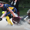 BRYAN EATON/Staff Photo. Newburyport's Stephanie Gleason got a little dusty on her safe steal of third base.