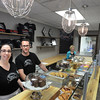BRYAN EATON/Staff Photo. Ashley Bush and Bryan Dinger in the new and expanded Buttermilk Baking Company on Liberty Street in Newburyport, just two doors down from their old location.