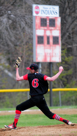 JIM VAIKNORAS/Staff photo Amesbury #6 pitches against Pentucket at Amesbury