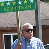 BRYAN EATON/Staff Photo. Freeman Condon greets voters at the Hilton Center.