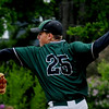 JIM VAIKNORAS/Staff photo Pentucket's Jim Cleary pitches against Triton in the championship game at the Spofford Tournement in Georgetown Sunday.