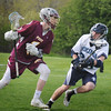 BRYAN EATON/Staff Photo.Triton's Brian McCaffrey covers Newburyport's Rob Shay.