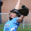 BRYAN EATON/Staff Photo. Triton pitcher Grace McGonagle winds up against Newburyport.