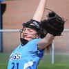BRYAN EATON/Staff Photo. Triton pitcher Grace McGonagle winds up against Newburyport.