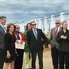 Lt. Gov Karyn Polito visits site of Salisbury Beach boardwalk with Rep. Jim Kelcourse.