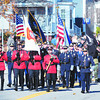Amesbury: The annual Amesbury Veteran's Day parade makes it's way toward the Middle School Monday morning. Jim Vaiknoras/staff photo