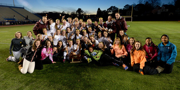 Worcester:Newburyport's girl soccer team after their 1-0 victory over Granby at Foley Stadium in Worcester, giving them the Division 3 State Championship. Jim Vaiknoras/staff photo