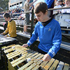 West Newbury: Pentucket band members Collin Tarr, as Spock, and Derek Cochran as James T.Krk, performduring the Sachem's football game against Hamilton-Wenham Saturday . Jim Vaiknoras/staff photo