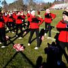 Newburyport: Amesbury cheerleaders lead a cheer at the Thanksgiving fottball game between Newburyport and Amesbury at World War Memorial Stadium in Newburyport Thursday. Jim Vaiknoras/staff photo