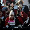 Newburyport:  the Amesbury high band performs at the annual Thangsgiving football game between Newburyport and Amesbury at World War Memorial Stadium in Newburyport Thursday. Jim Vaiknoras/staff photo