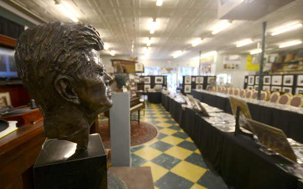 Amesbury: President Kennedy up for auction at John McInnis in Amesbury. Jim Vaiknoras/staff photo