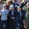 Amesbury: Amesbury scouts hold flags and salute during the annual Veteran's Day ceremony at Amesbury Middle School. Jim Vaiknoras/staff photo
