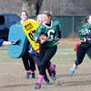 West Newbury: Pentucket's Jackie Brennan finds running room against Triton during the Powder Puff  game at Pentucket High Saturday. Jim Vaiknoras/staff photo