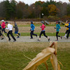 Amesbury: Runners in the Cider Hill 5K Trail Run take off past the corn fields Sunday morning at Cider Hill Farm in Amesbury. Jim Vaiknoras/staff photo